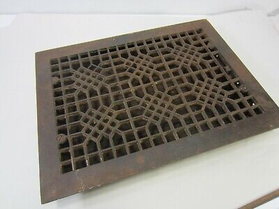 Antique Cast Iron Floor Grate w/Damper ASG#33