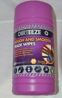 Cleaning Wipes Dirteeze Rough & Smooth, Trade Wipes, 80 Wipes + aloe vera