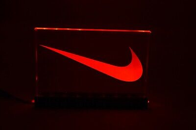Nike Swoosh LED Lighted Store Display Sign With Remote