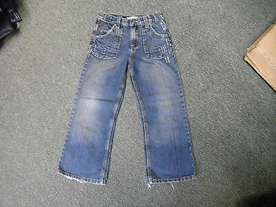 "George Loose Fit Jeans Waist 24"" Leg 22"" Faded Dark Blue Boys 7/8 Yrs Jeans"