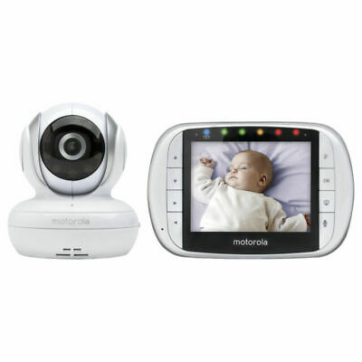 """Motorola 3.5"""" Video Baby Monitor w/ Two-Way Communication MBP33XL PREOWNED"""