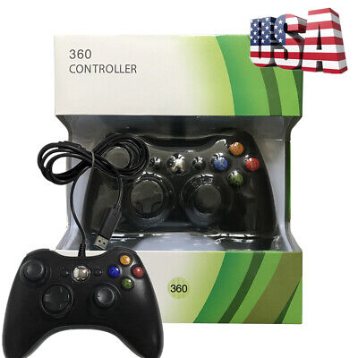 USB Wired Game Controller Gamepad Joystick For Microsoft Xbox 360 & PC Original-