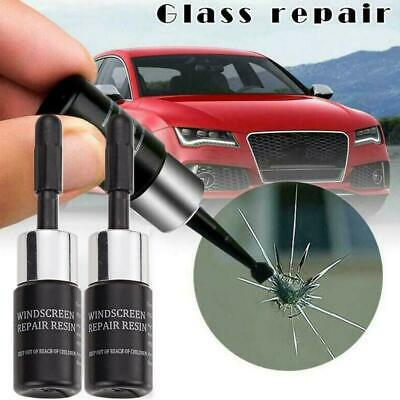 2×SET Automotive Glass Nano Repair Fluid Car Windscreen Windshield Crack Repair