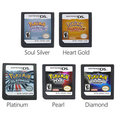 Pokemon HeartGold SoulSilver Platinum Game Card for Nintendo DS DSi 3DS NDS Lite