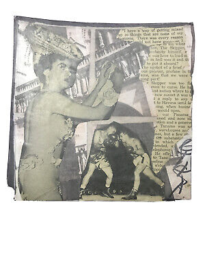 "Mail Art COLLAGE by Steve Camaro - Original Postcard Art ""THE UPSHOT OF A BRIEF"""