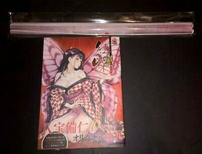 Happoubijin Illustration Hoteri Art Works Book Collection W/ B2 Scroll Japanese