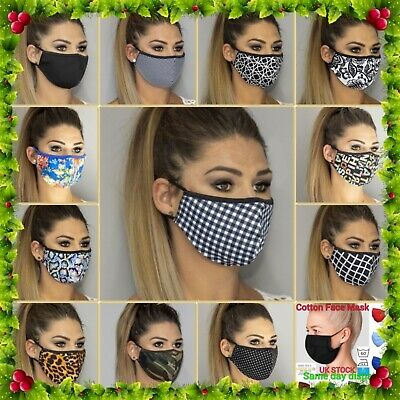 Face mask cotton washable reusable unisex Wholesale black navy khaki camouflage
