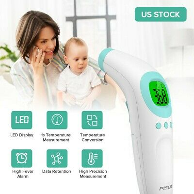 Infrared Forehead Thermometer Handheld Temperature Gun Digital Thermometer LED