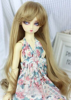 BJD Doll Wig 1//3 1//4 1//6 SD DZ DOC Pullip Blonde Brown White Short Curly Hair