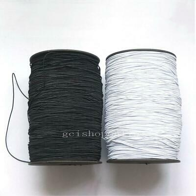 1mm Round Elastic Cord 4 Face Stretch Rope Strip DIY Clothing Sewing bead LOOP