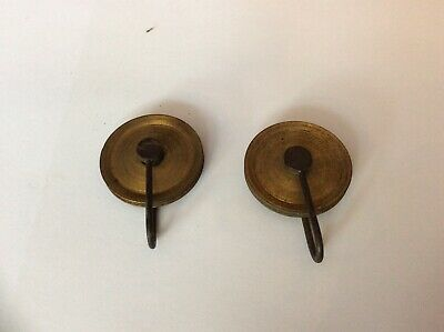 Pair Of Original Antique 8 Day Long case Clock Weight Pulleys