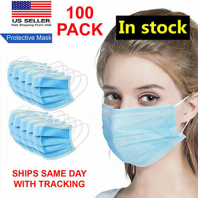 100 PCS Disposable Face Mask Medical Surgical Dental (100 Pack) - SHIPS SAME DAY