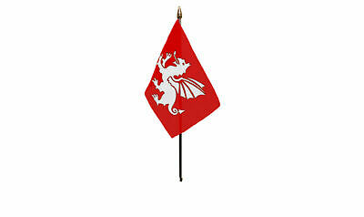 English White Dragon Sleeved Flag suitable for Boats 45cm x 30cm