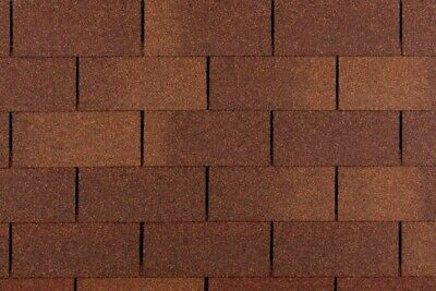 BROWN SUPER SQUARE  Felt Roofing Shingles   3 sqm packs   Free Delivery