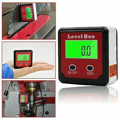 Digital Level Box Magnetic Angle Finder Protractor Bevel Saw Gauge Inclinometer