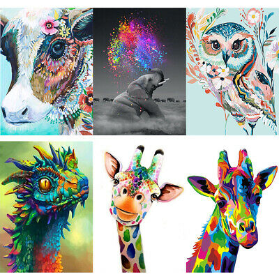 DIY Full Drill Animals 5D Diamond Painting Embroidery Cross Stitch Arts Kits Hot