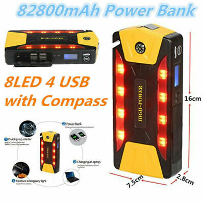 Emergency Car Jump Starter Power Bank 12V 600A Portable Starting Device Booster