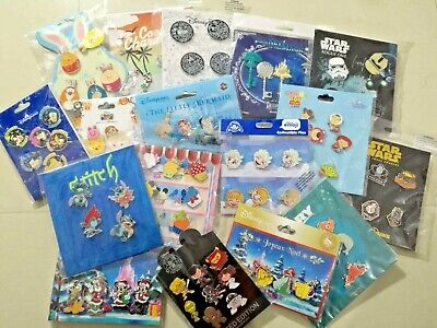Disney TRADING PINS! 50 Pins Lot - Brand New Booster Sets