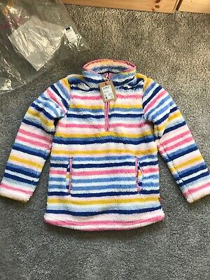 NEW Joules Snuggle Fleece 7-8Yrs BNWT Sweatshirt Jumper Top Jacket Warm Cosy