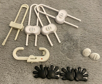 Child Safety- 5 Cabinet Lock, 10 Outlet Covers And 4 Hands Corner Bumper.
