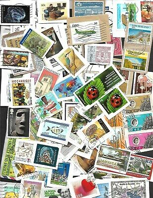 1 _Oz  ( 28 ) Gm   World Unpicked Stamps  On Paper