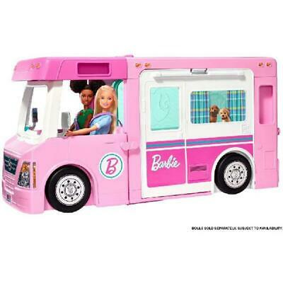 Barbie DreamCamper Rv Adventure Camping Playset Pool Truck Boat 50 Accessories
