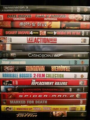 Dvd Lot Of 16 Various Genre Action Horror Comedy Bilingual