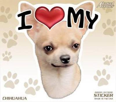 """24 total I Love My Chihuahua Dog 4"""" Car Home Sticker Decal Pet Gift"""