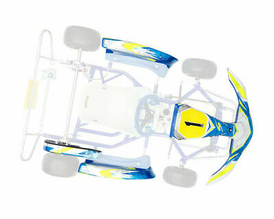 Go Kart Synergy Platinum X Sticker Kit With KG MK14 Bodywork In Blue Race Racing