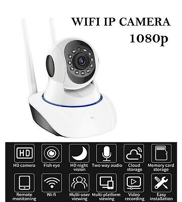 1080P WiFi Home Security Baby Monitor IP Camera 2 Way Audio Wireles Night Vision