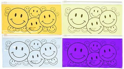 Lot of 12 Smiley Face Pencil Cases