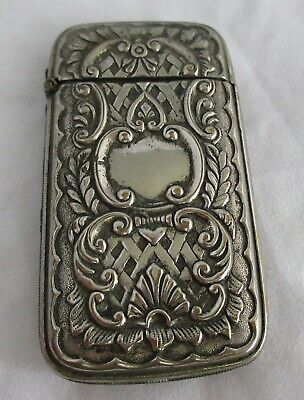 Fancy Antique Silver Art Nouveau Match Safe Holder