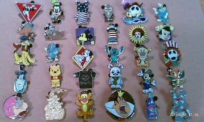 Lot of 25 Disney Trading Pins-No Duplicates-LE-HM-Rack-Cast-Free Shipping d300