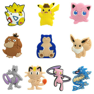 50pcs pikachu PVC Shoe Charms Buckles Decoration Action Figure Jibitz for Croc