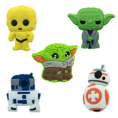 50pcs baby yoda PVC Shoe Charms Buckles Decoration Action Figure Jibitz for Croc