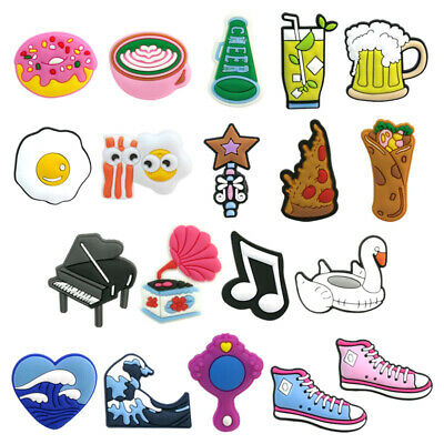50pcs Casual PVC Shoe Charms Buckles Decoration Jibitz for Croc Shoes Party Gift