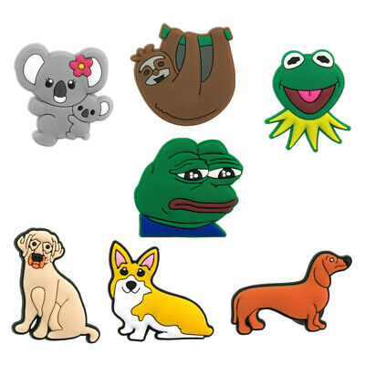 50pcs Animals Pet Dogs PVC Shoe Charms Buckles Decoration Jibitz for Croc Shoes