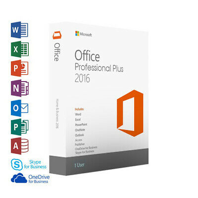 Microsoft Office 2016 Professional Plus Pro Plus Key 32/64 Bit Deutsch