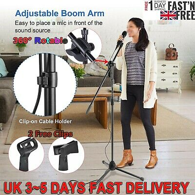 High Quality Professional Boom Microphone Mic Stand Holder Adjustable Black KKU
