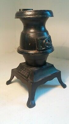Iron Coal Merchant Shop Window Display , Miniature Pot Belly Stove