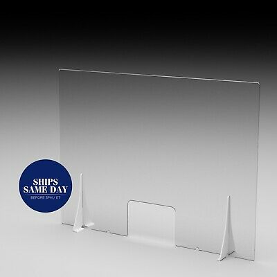 Sneeze Guard Acrylic | Clear Plastic Protection Barrier | Protective Cough Guard