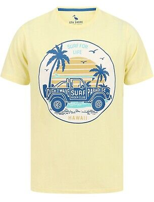 White South Shore Santa Monica Sunset Graphic Mens Short Sleeve T-Shirt
