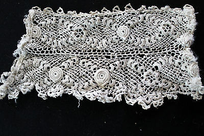 Antique Victorian-Edwardian Hand Embroidered Lace Pcs
