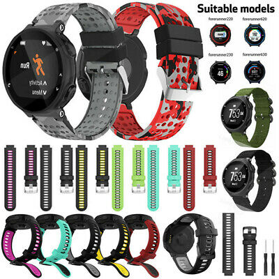 Silicone Sports Watch Band Strap For Garmin Forerunner 735XT 220 230 235 620 630