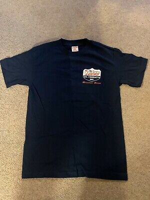 Lucas Oil Inc Official T-shirt Two Sided In navy - Adult Size Extra large