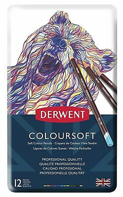 Derwent - Coloursoft Artist's Drawing Pencil - Set of 12 in Pencil Tin*Fast Post