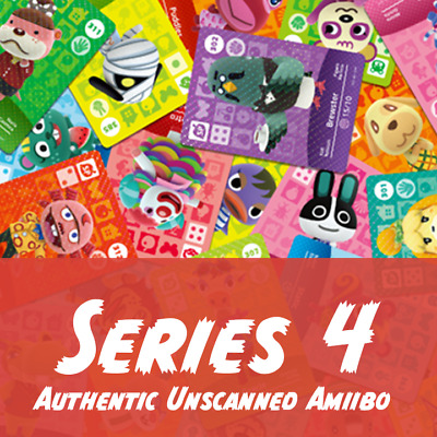 Animal Crossing Amiibo Cards | Series 4 | Authentic Unscanned