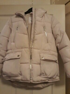 Girls puffa coat zara age 9 stunning very thick and warm