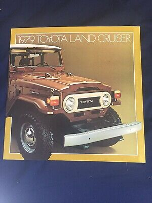 1979 Toyota Land Cruiser Color Brochure Catalog Prospekt
