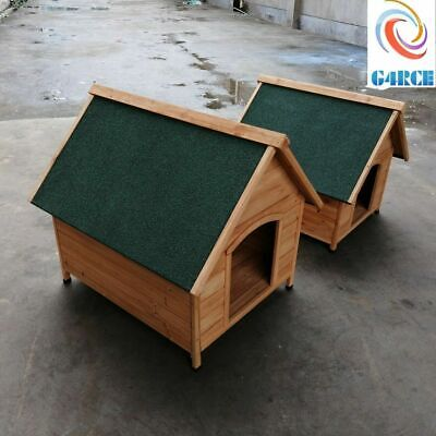 Outdoor Dog Winter House Pet Wood Dogs Kennel Shelter Easy Cleaning Pet Hut UK